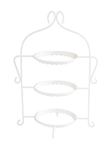 """APS Serviergestell """"Romantic"""", Gestell ohne Teller, für 3 Teller bis max. Ø 17,5 cm, Etagere, 22,5 x 16,0 x 32,0 cm, weiß"""