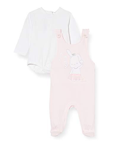 Chicco Completo Bimba 2 Pezzi: Body Manica Lunga + Tutina Senza Maniche Mono Corto, Rosa (Rosa 011), 58 (Talla del Fabricante: 062) para Bebés