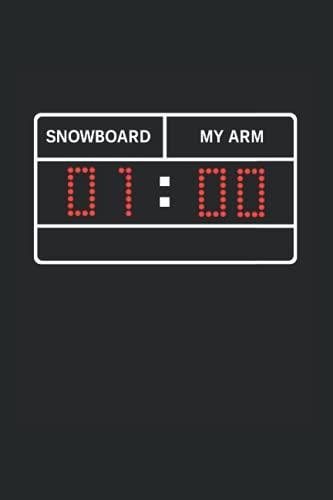 Notizbuch: Witziger Snowboard Unfall Snowboarden Verletzung Humor Notizbuch DIN A5 120 Seiten für Notizen Zeichnungen Formeln   Organizer Schreibheft Planer Tagebuch