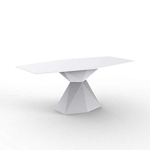 Vondom Vertex table avec surface HPL 180x94 cm blanche