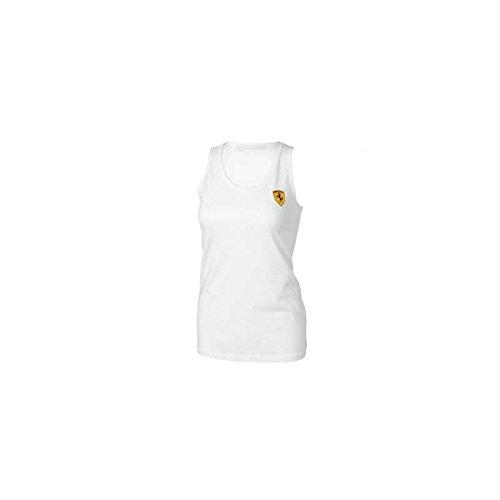 Ferrari dames mouwloos T-shirt, wit, maat S