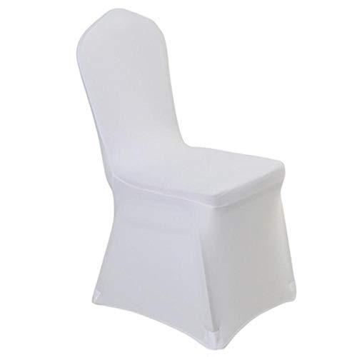 Witte kleur goedkope stoelhoes spandex lycra elastische stoelhoes sterke zakken voor bruiloft decoratie hotel banket groothandel, platte voorkant, 200 gram per pc