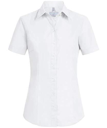 GREIFF Damen-Bluse Basic, Regular Fit, Stretch, Easy-Care, 6516, weiß, Größe 50