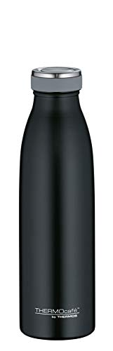 ThermoCafé by THERMOS 4067.232.050 Thermosflasche TC Bottle, Edelstahl Mat Black 0,5 Liter, 12 Stunden heiß, 24 Stunden kalt, BPA-Free