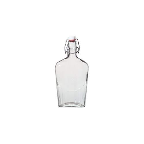BORMIOLI ROCCO Taschenflasche mit Bügelverschluss, Inhalt: 0,25 Liter