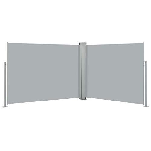FAMIROSA Ausziehbare Seitenmarkise Anthrazit 140 x 1000 cm