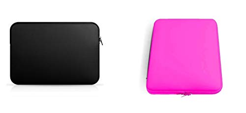 Kit 2 Case de Notebook 15,6 Polegadas Preta e Rosa