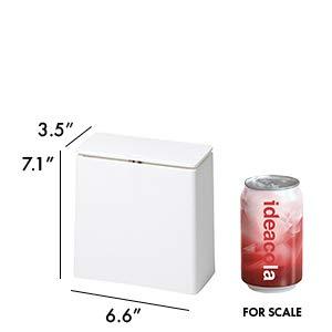 イデアコフタ付ゴミ箱チューブラーミニフラップホワイト1.4L