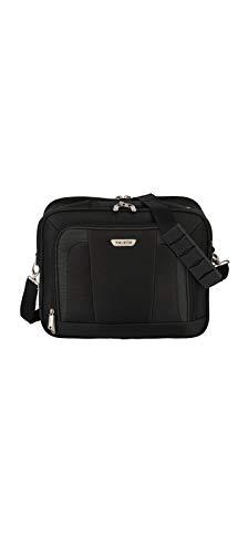 Travelite Handgepäck Tasche mit Aufsteckfunktion, Gepäck Serie ORLANDO: Klassische Weichgepäck Bordtasche im zeitlosen Design, 098484-01, 18 Liter, 1,0 kg, schwarz