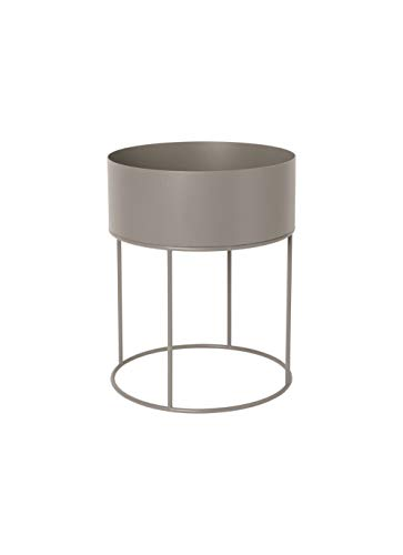 Ferm Living Plant Box Blumenkasten, Metall, warm Grey, 50cm