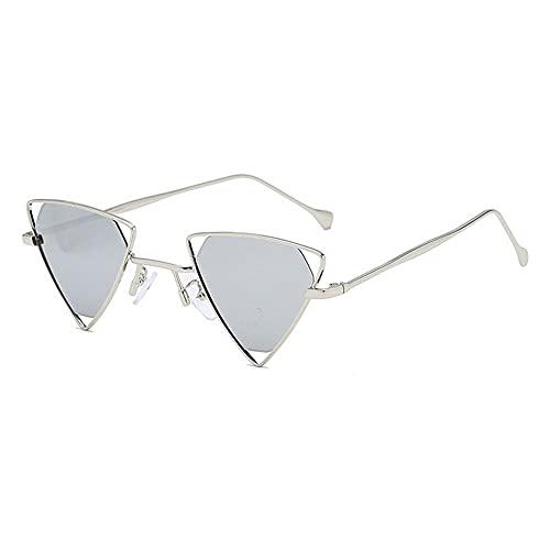 Heigmznvtyj Gafas de Sol Mujer Polarizadas, Gafas de Sol del triángulo Retro del triángulo de Metal de Las Damas de la Moda del Caramelo Color Transparente Rojo Amarillo Rosa Gafas de Sol