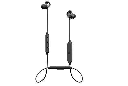 PLUG \'N PULL Wireless Sport Kopfhörer In-Ear Bluetooth Headset, ideal für Homeoffice, 15 Std Spielzeit, cVc8.0 Noise Cancelling Mikrofon, Bluetooth 5.0, AptX HD Audio/Stereo Sound, IPX4 Wasserfest