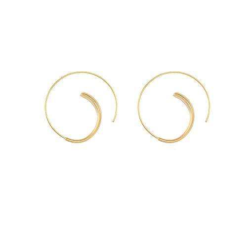 1 piercing de oreja para mujer, estilo vintage, con forma redonda, pequeños aretes de aro