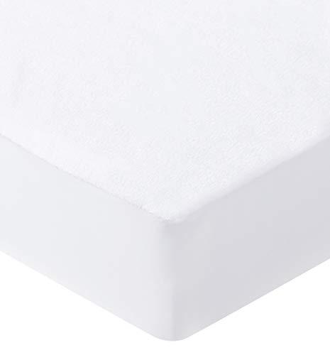 Bedecor Bamboo Mattress Protector Breathable Topper Cover Non Noisy Deep Pocket 30cm - Single (90x190/200cm)