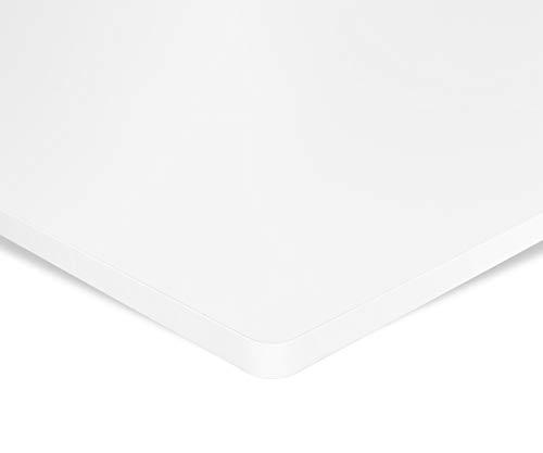 Preisvergleich Produktbild ESMART Germany TPL-168W stablie Schreib-Tisch-Platte aus MDF [Größenauswahl] 160 x 80 x 2, 5 cm - Weiß / Kratzfest,  PVC-beschichtet,  pflegeleicht,  Bürotischplatte belastbar bis 120 kg