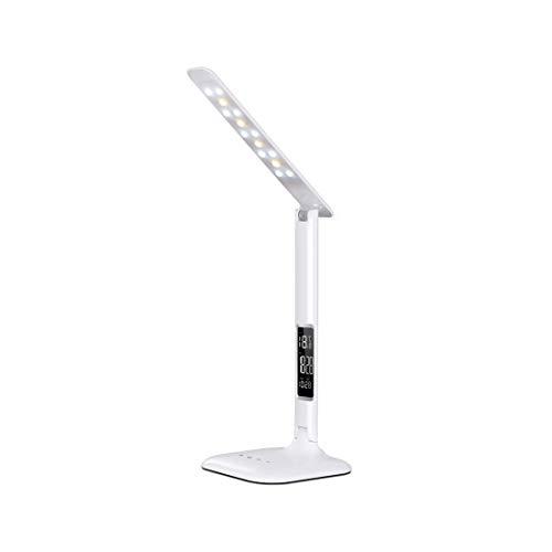 Helele Bureaulamp, touch-bediening, eye-caring, tafellampen, 3 kleurmodi, traploos dimbaar, minimalistisch design met geheugenfunctie (2 cps)