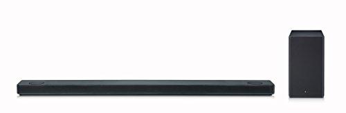 LG SK10Y Dolby Atmos 5.1.2 - Barra de Sonido (con tecnología de Sonido meridiano, 550 W, con subwoofer inalámbrico), Color Negro