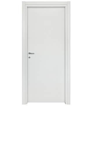Porte Battente - Laminato Vari Colori - Linea Eco - SPESSORE 11, BIANCO, H 210 x L 80