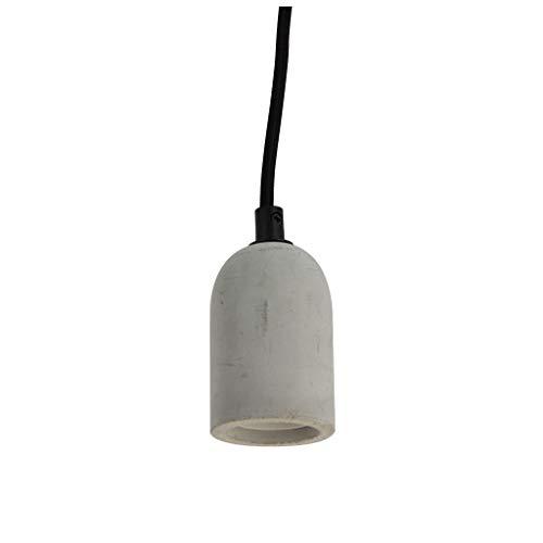 Douille suspension - Suspension ampoule - fil Électrique pour suspension - Ampoule prise electrique - Suspension à douille en béton - SDC01EG Xanlite