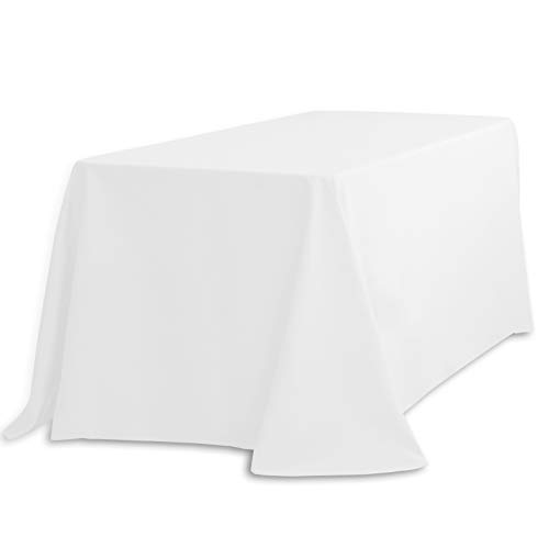 LinenTablecloth 90 x 156-Inch Rectangular Polyester Tablecloth White