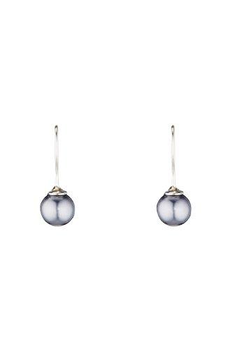 Córdoba Jewels | Pendientes en plata de ley 925 con perlas. Diseño Perla Gris Hippie Silver