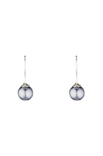 Córdoba Jewels   Pendientes en plata de ley 925 con perlas. Diseño Perla Gris Hippie Silver