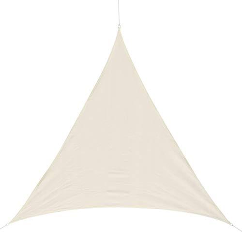 HOMCOM Outsunny - Toldo Vela triangulo (Varios tamaños y Colores), tamaño 4x4x4m, Color Crema