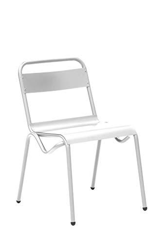 Juego de 4 sillas para jardín. Set para terraza o jardín. Silla de 57x76x75 cm. Silla de la colección Anglet . Sillas modernas para disfrutar de barbacoas al aire libre con tus amigos o familiares.