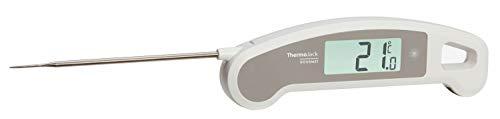 TFA Dostmann Thermo Jack Gourmet Profi-Küchenthermometer, Klappthermometer, Fleischthermometer, schnelle und genaue Messung, antibakterielle Beschichtung, abwaschbar