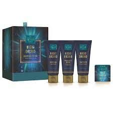 Scottish Fine Soaps Lux Gift Set Night Orchid Drum