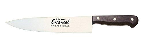 Cocina Enamel Fenol Prof Cuchillo de Cocina, Acero Inoxidable, Negro, 13 cm