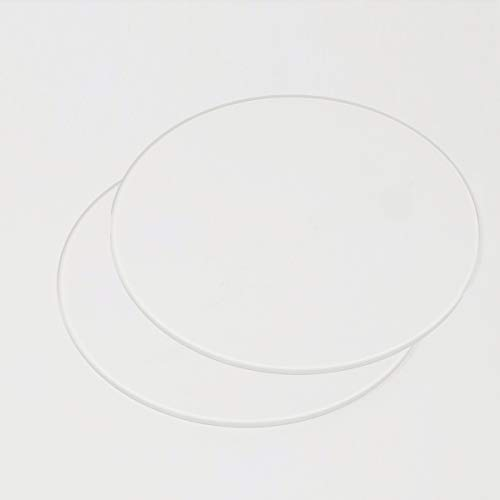 2pcs 120mm x 3mm Round Borosilicate Glass Build Plate For 3D Printers, Perfectly Flat Glass With Polished Edges