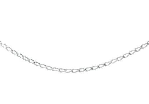 Carissima Gold Collar unisex con oro blanco de 9K, 40 cm