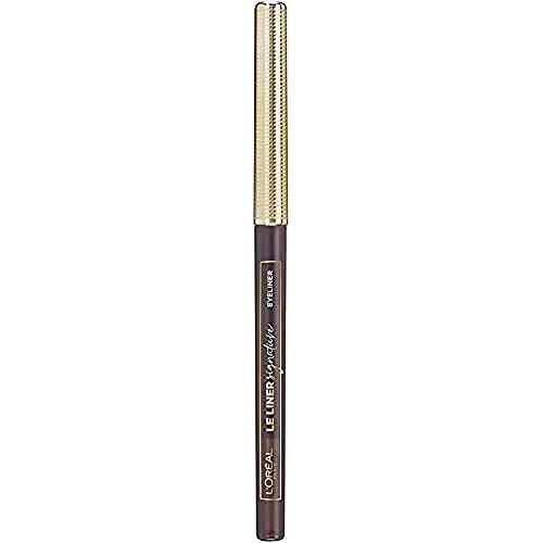 L'Oréal Paris - Crayon Eyeliner Waterproof - Le Liner Signature - Teinte : Marron (Brown Denim) - 2,8 g
