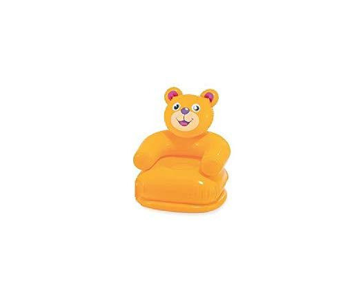 Aufblasbarer Kindersessel Sessel Stuhl Sessel ist bis max. 60 kg belastbar Maße: ca. 65 x 64 x 75 cm ideal fürs Kinderzimmer , Garten , Strand oder Urlaub (Bär ohne Blümchen)
