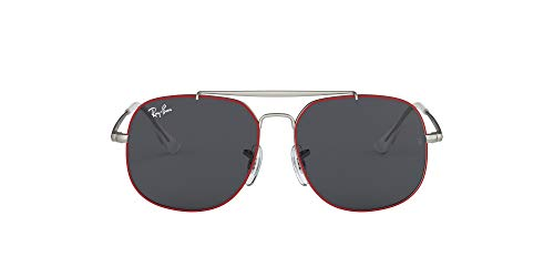 Ray-Ban Unisex adulto JUNIOR-THE-GENERAL-0RJ9561S278-87 JUNIOR-THE-GENERAL-0RJ9561S278-87, (Rubber Red On Silver)