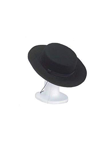 DISBACANAL Sombrero cordobés Adulto - Negro, Unica