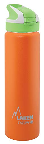 Laken Unisexe - Adulte Thermo avec fermeture Summit 0,7 L Bouteille isotherme Orange 0.75 L