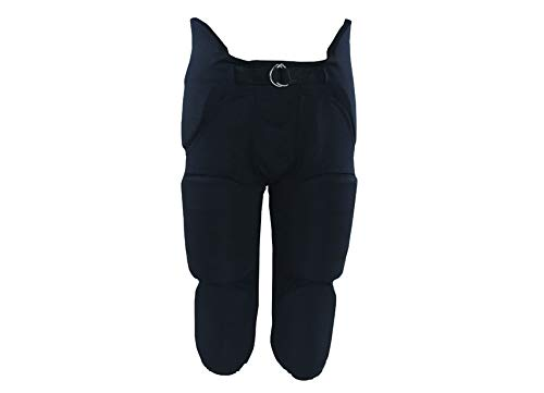 Meyer Sports MM Adult Football Pant with Integrated Pads - Black (Medium)