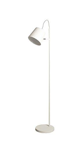 Unico Lampada da Terra, 1 Testa Luce Fibbia Bianco