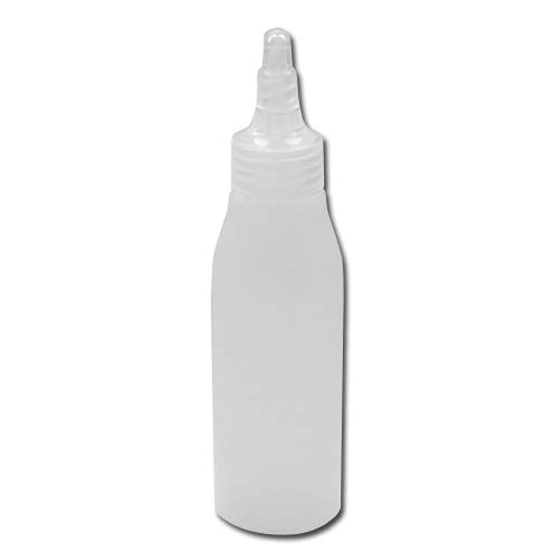 詰め替え容器100ml 半透明 ツイストキャップ 滑らかなボトルライン ノズル式│シンプル ボディーソープ ローション等の詰替に 小分け 化粧品