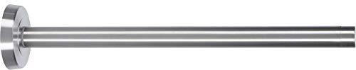 Toallero telescópico de acero inoxidable pulido, extensible de 25 a 42 cm.