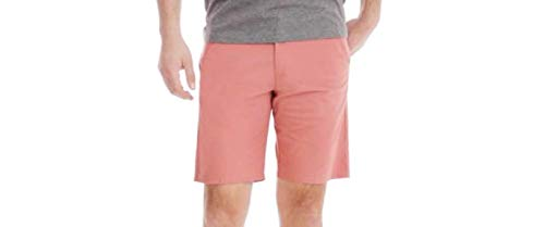 Warm Orange Outdoor Performance Straight Fit at Knee Flex Flat Front Shorts - 36