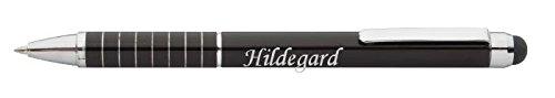 Personalisierte Stift und Touchscreen-Stift mit Aufschrift Hildegard (Vorname/Zuname/Spitzname)