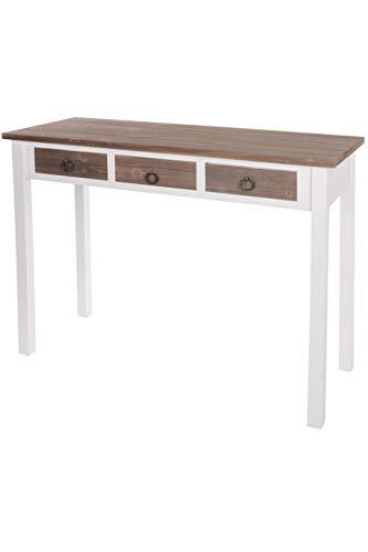 elbmöbel. de–Console, legno), motivo vintage, colore: bianco e marrone