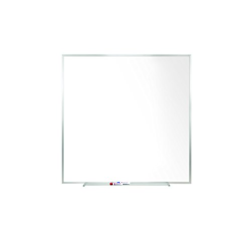 Ghent 4 x 4 Porcelain Magnetic Whiteboard, Aluminum Frame, 1 Marker, 1 Eraser, Made in the USA (M1-44-4)
