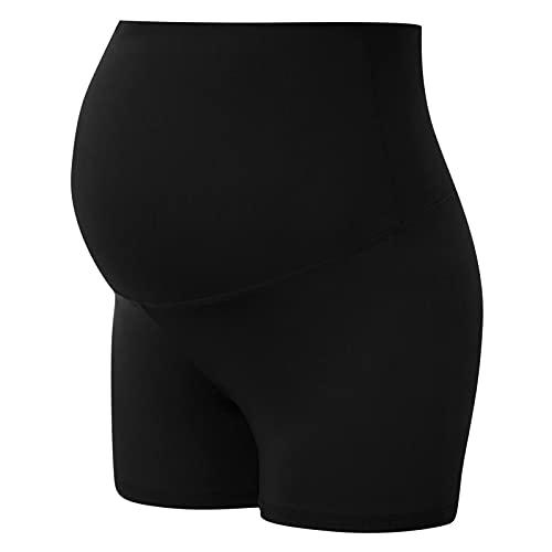 KYZRUIER Pantalones cortos de yoga para mujer, embarazadas, glúteos, pantalones cortos de yoga