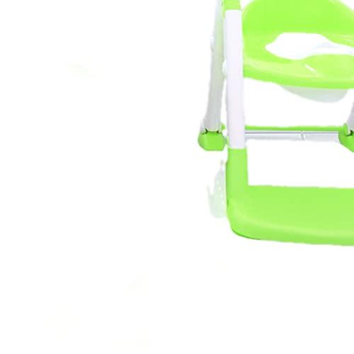 ngdt Asiento De Inodoro para Niños Reductor De WC para Bebé Adaptador WC con Cojín Suave Orinal De Bebé En Diseño Antideslizante Antisalpicadura Blanco-Green