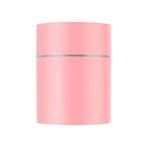 dinglihuaqu Hausbefeuchter des Haushalts 300ML USB-Luftbefeuchter Car Desinfizieren Aromaöl Luftreiniger Aroma Diffuser LED-Licht Startseite Luftbefeuchter (Color : Pink)