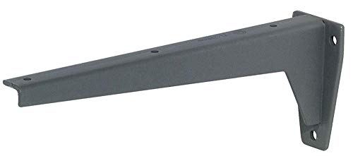 Gedotec Schwerlastträger Winkel-Regalträger Schwerlast-Konsole MIRA Strong | Stahl massiv grau | Tragkraft 500 kg per Paar | Regal-Winkel Länge 380 mm | 1 Stück - Regalkonsole für schwere Lasten